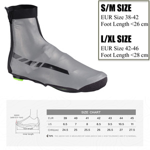 Image 5 - ROCKBROS Road Bike Shoe Covers Cycling Waterproof and Windproof Overshoes MTB Winter Bicycle Reflective Fabric Toe Cover