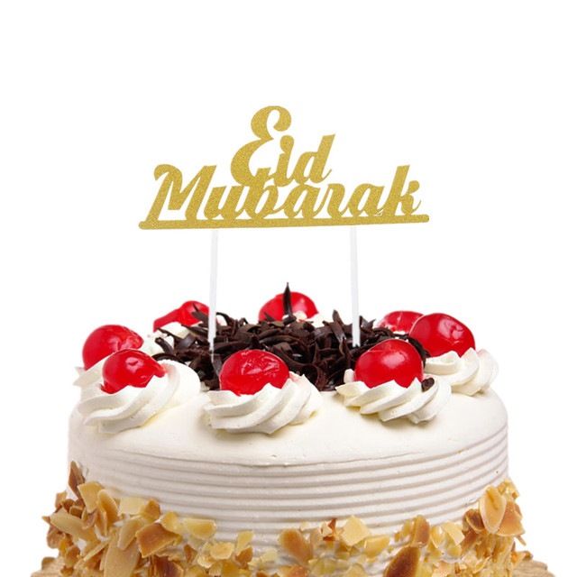 1PC Eid Mubarak Cake Toppers DIY Cupcake Topper Cake Flags Kids Birthday Wedding Bride Party Ramadan Muslim Eid Baking Decor