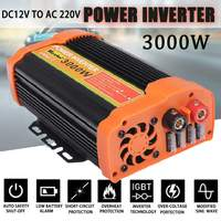 Dual USB Max 6000W DC 12V to AC 220V 3000W Car Power Inverter Charger Converter Adapter Modified Sine Wave Transformer
