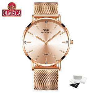 Image 2 - OLMECA Reloj de lujo para mujer, reloj de pulsera femenino, resistente al agua, envío directo