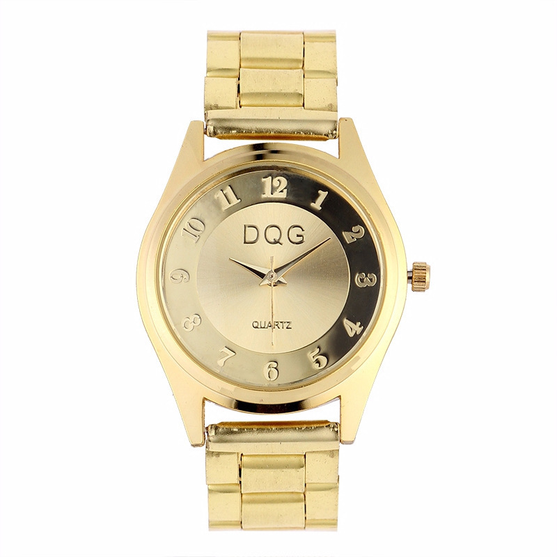 Sell Pass Hot Style Female Ten Golden Net Strip With Wrist Expression Couple Leisure Quartz Watch Men Watch Personality