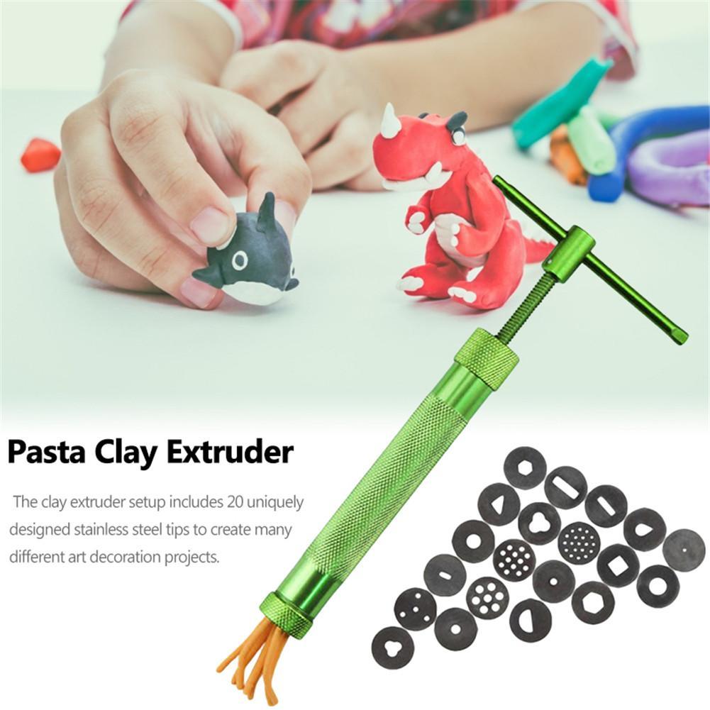 Green Clay Extruders Sculpture Gun Clay Sugar Paste Extruder Fondant Cake S8