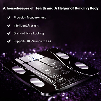 New Smart Body Fat Scale LED Digital Weight BMI Weight Monitor Health Analyzer Fitness Lose Weight Scales Bathroom Balance