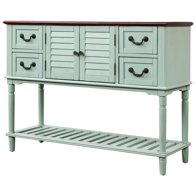 Console Table Sideboard w/ Shutter Doors  6
