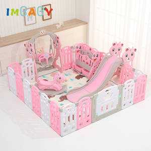 IMBABY Kids playpen For Children Pool Balls For Newborn Baby Fence Playpen Free Mat Kids Safety Activity Park Slide Swing Trojan