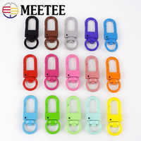 Meetee 10/30/50pcs 34*13mm Metal Spring Swivel Ring Buckles Bags Strap Key Chain Snap Clip Hook DIY Jewelry Craft Accessories