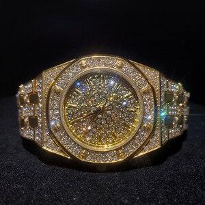 Image 1 - MISSFOX topos relógios femininos de luxo marca ouro bling diamante relógios femininos melhor venda senhoras à prova dwaterproof água relógio com caixa de presente