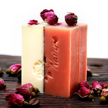 Creative Handmade Soap Double Essential Oil Rose Soap Face Wash Bath Whitening Soap Unisex Skin Care Soap rose handmade soap women rose oil bar soap skin treatment whitening cleaner girl bath anti fungus handcrafted soap