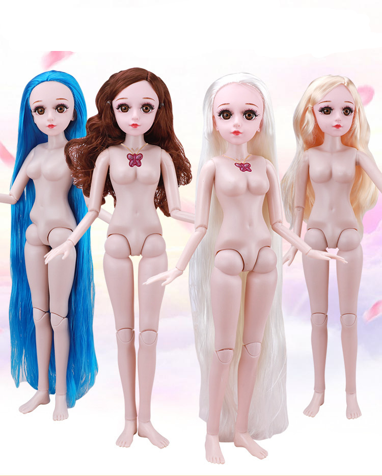 21Moveable Jointed 60cm <font><b>1/3</b></font> <font><b>BJD</b></font> Dolls lols 3D Eyes Female Naked Nude Women Doll Body With Shoes Fashion Dolls Toy For Girls Gift image