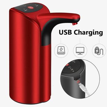 Automatyczny podwójny tryb bidon pompa USB ładowanie przenośne elektryczne automatyczne poidełko dozownik do wody przełącznik butelki wody tanie i dobre opinie CN (pochodzenie) Z tworzywa sztucznego