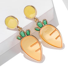 New Cute Cartoon Dorp Earrings Korean Style Metal Sweet Romantic Fashion Women's Earrings For Jewelry Accessories Wholesale(China)