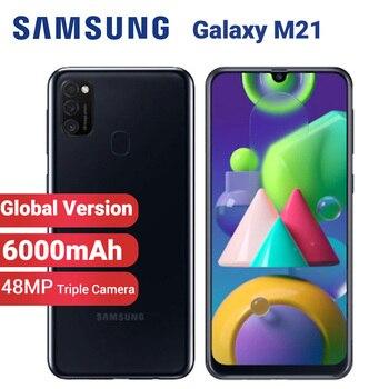 Перейти на Алиэкспресс и купить Мобильный телефон Samsung Galaxy M21, глобальная версия, 6000 мАч, две SIM-карты, 64 Гб ПЗУ, 4 Гб ОЗУ, M215F/DS, 6,4 дюйма, Exynos 9611, 48 МП, Android 10, 4G смартфон