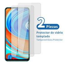 2 uds Protector de vidrio templado para Xiaomi Redmi Nota 9 S 9 S Redmi Note 9 Pro POCO F2 Pro Redmi Nota 9 Redmi 9 Redmi Note 9