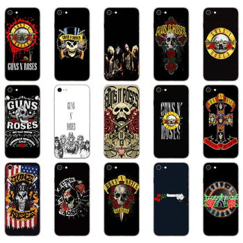 Funda de silicona suave 35DD guns n roses para iphone 5, 5s, se, 6, 6s, 8 plus, 7, 7 Plus, X, XS, SR MAX