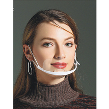 5 Colors Reusable Transparent Anti-fog Anti-saliva Mouth Shield Clear Plastic Mouth Cover F