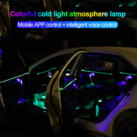 New Neon Wire Strip RGB LED Car Interior decoration Light pipe 3.0 colorful Bluetooth Phone Control Atmosphere lamps Universal
