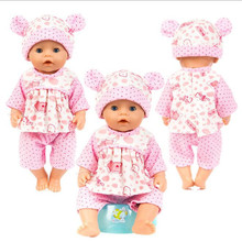 Fit 17 inch 43cm Baby New Born Doll Clothes Accessories Pink Rabbit Blue Cat  For Gift