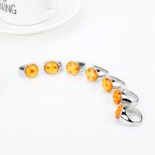 Модное женское кольцо с японским Аниме 1  7 звездными шариками
