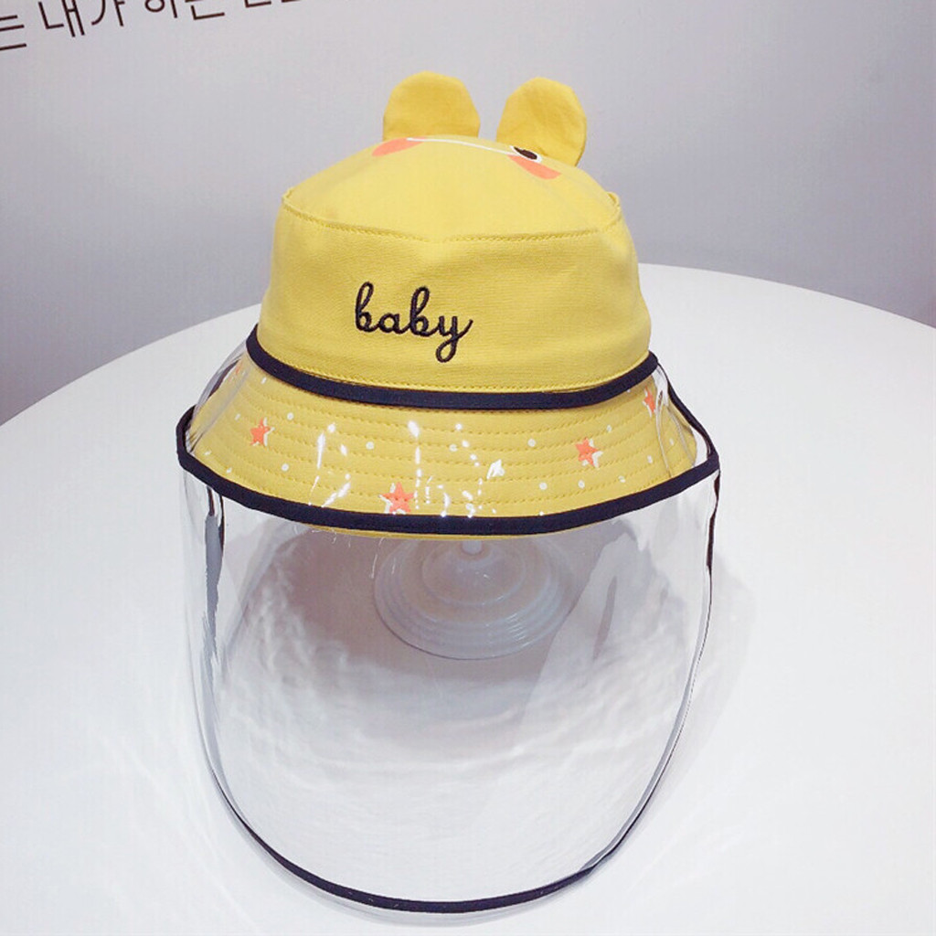 Baby Multi-function Protective Cap Anti-Saliva Protective Hat Eye Protection Windproof Hat Anti-saliva Children's Face Cover Cap 4