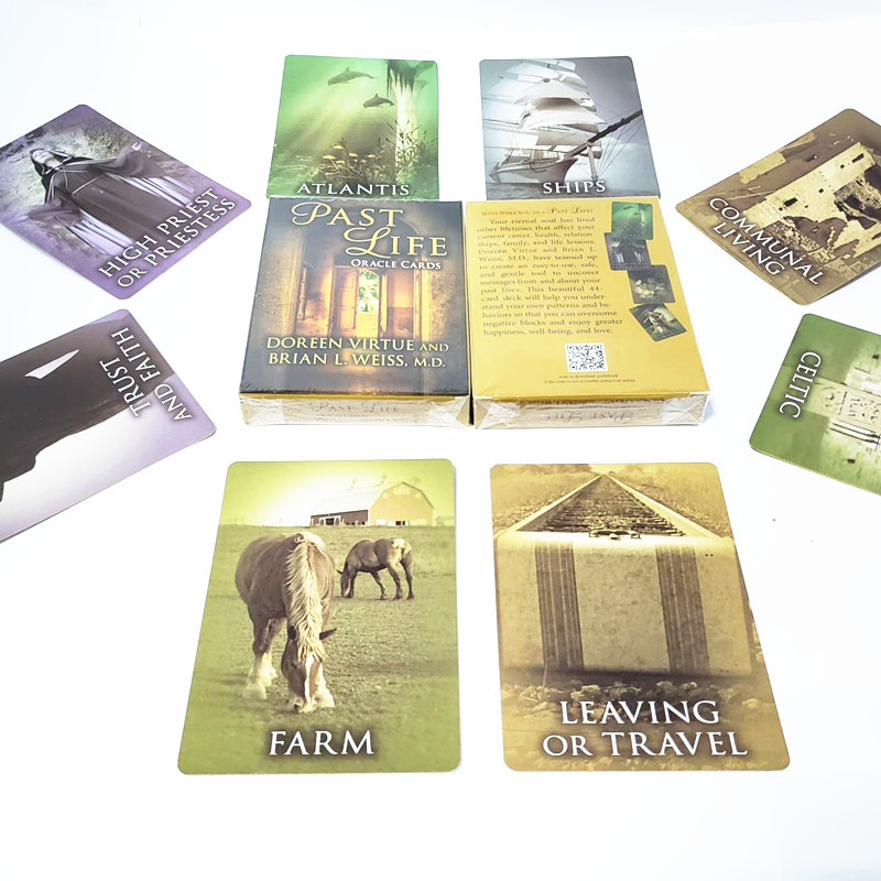 New Board Game Past Life  Cards  Guidance -divination Fate Tarot Deck Board Game 44 Cards/sets