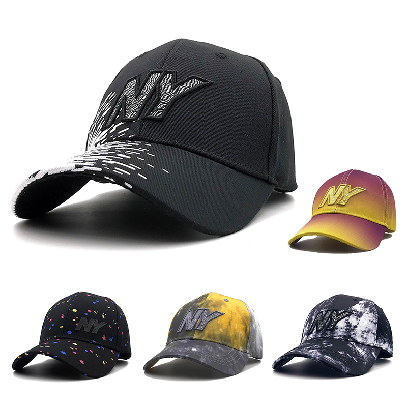 new NY embroidery Mens 100% Cotton Baseball Cap Casual Dad Cap Women outdoor high quality Snapback Trucker hat Casquette image