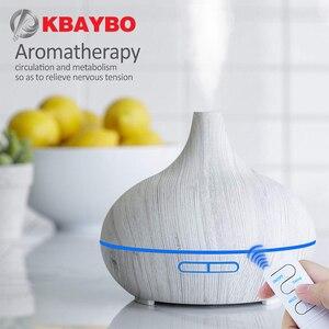 Image 1 - KBAYBO rozpylacz zapachów nawilżacz z funkcją oczyszczania powietrza ziarno drewna rozpylacze olejków 7 kolorowe światło nocne Mist Maker Fogger dla domu