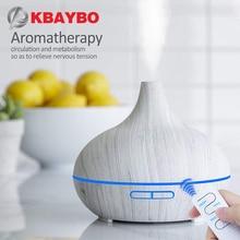 Kbaybo Aroma Diffuser Luchtreiniger Luchtbevochtiger Houtnerf Essentiële Olie Diffusers 7 Kleur Nachtlampje Mist Maker Fogger Voor Thuis