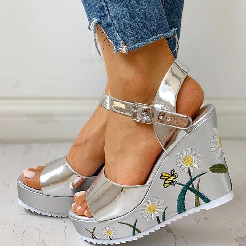 2020 Fashion Summer Platform Wedge High Heels Casual Comfortable Light Leisure Shoes Woman Sandals Women Shoes FemaleZH100695