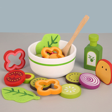 Making Salads Toys Classic Game Simulation Kitchen Cutting Fruit Vegetable Toys Montessori Early Education Gifts Making Salads