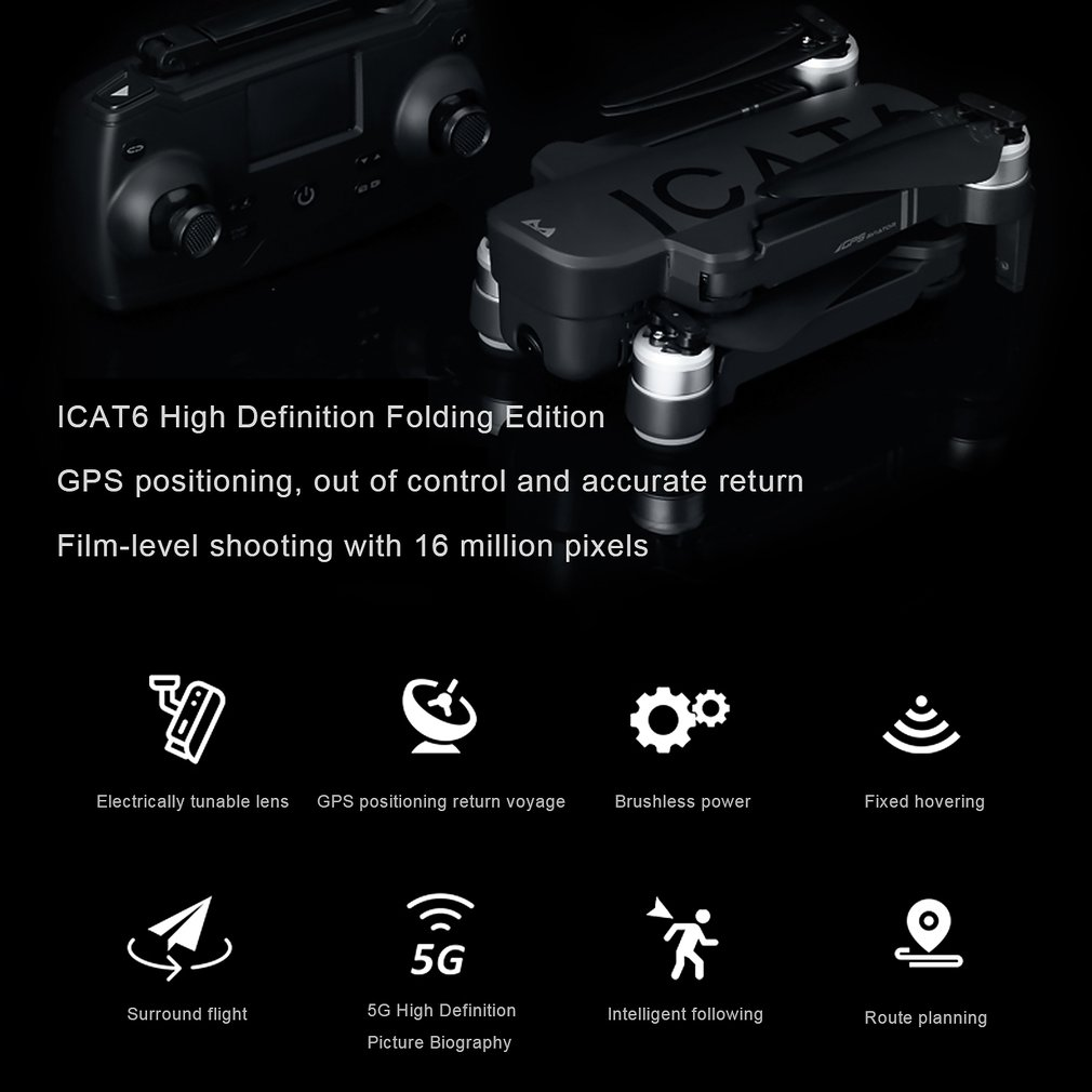 cheapest SMRC icat6 profissional fold Quadrocopter Gps Drones with Camera HD 4K RC Plane race helicopter follow me x PRO racing Drone