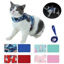 Nylon Mesh Cat Harness and Leash Set Escape Proof Reflective Summer Adjustable Harness for Cats Cat Vest Harness Arnes Para Gato