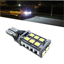 цена на T15 W16W 921 Canbus Super Bright High Power 15 SMD 2835 LED No ERROR Car Backup Reserve Lights Bulb Brake Lamp Xenon White