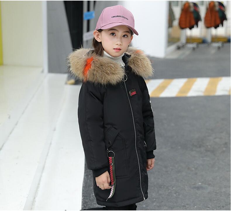 110-170 cm filles vestes d'hiver manteau chaud filles canard vers le bas manteau fille et maman famille pardessus épaissir russie vêtements