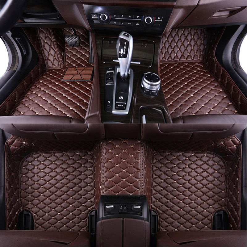Custom Leather Car Floor Mats for <font><b>Acura</b></font> <font><b>TL</b></font> <font><b>2006</b></font> 2007 2008 2009 2010 2011 2012 Custom Floor Foot Pads Automobile Carpet Covers image
