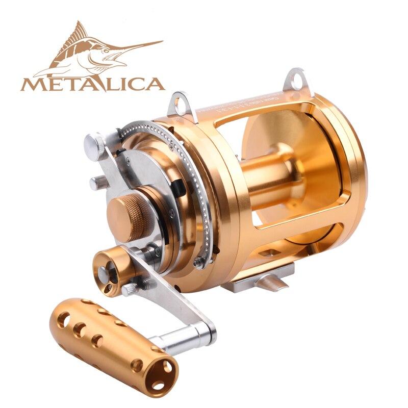 Металлические Троллинг-колеса 30W-II/50W-II/80W-II 8 + 1BB, барабанные катушки, литые большие модели, полностью металлические, глубоководная железная лодка, Рыболовная катушка 5