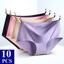 Ropa interior sin costuras para mujer, braguitas de mujer sensuales, lencería Sexy, calzoncillos de Tangas, 10 Uds./0,9 $
