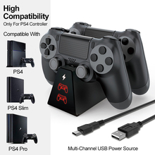 Dock-Station Battery-Charger Console Controller Portable 4-Games for Slim Ps4 Pro
