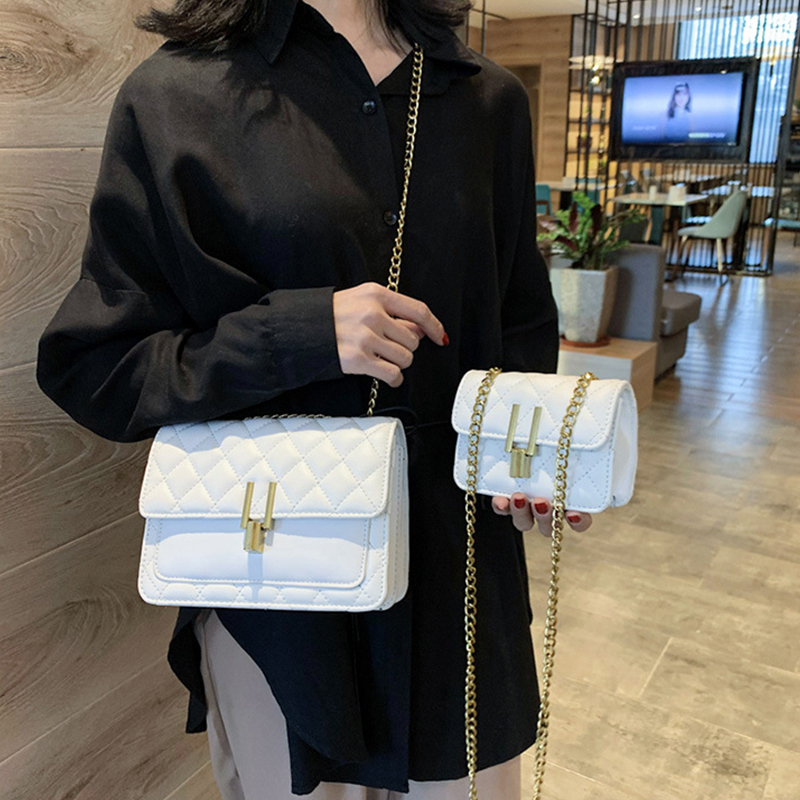 Ladies Messenger Bags For Women Small Flap Crossbody Bag Soft Leather Handbag And Purse Mini Trendy Classic Chain Shoulder Bags