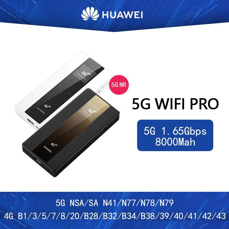 Huawei 5G Mobile WiFi Pro E6878-370 5G NSA/SA N41/n77/n78/n79 4G B1/3/5/7/8/20/B28/B32/B34/B38/39/40/41/42/43 8000Mah Power Bank