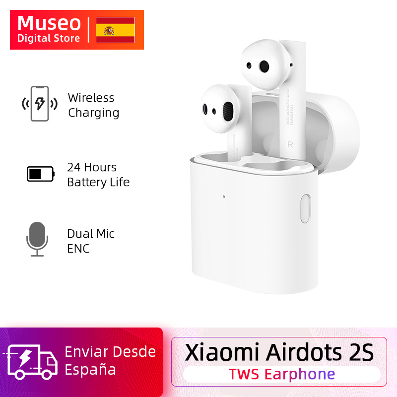 New Xiaomi Airdots Pro 2S <font><b>Mi</b></font> True Wireless Earphone <font><b>TWS</b></font> Earphone <font><b>mi</b></font> Airdots 2S LHDC Tap Control Dual MIC ENC Wireless Charger image