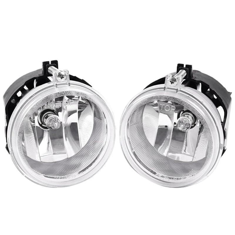 Fog Lights for Dodge Caravan Charger Challenger Caliber Chrysler Pacifica Sebring Jeep Patriot Compass OE Style Smoke Lens w//Bulbs