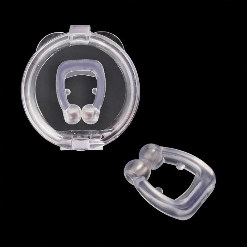Śpiący Anti Schnarchen Nase klip silikonowy magnetyczny przeciw chrapaniu klipsy do nosa oddychanie przystanek chrapanie bezdech antichrapanie klip urządzenie