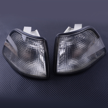 1 Pair Corner Smoke Turn Signal Lights Lens Case Fit For BMW E36 3-Series 2DR Coupe Convertible 1992- 1995 1996 1997 1998 image
