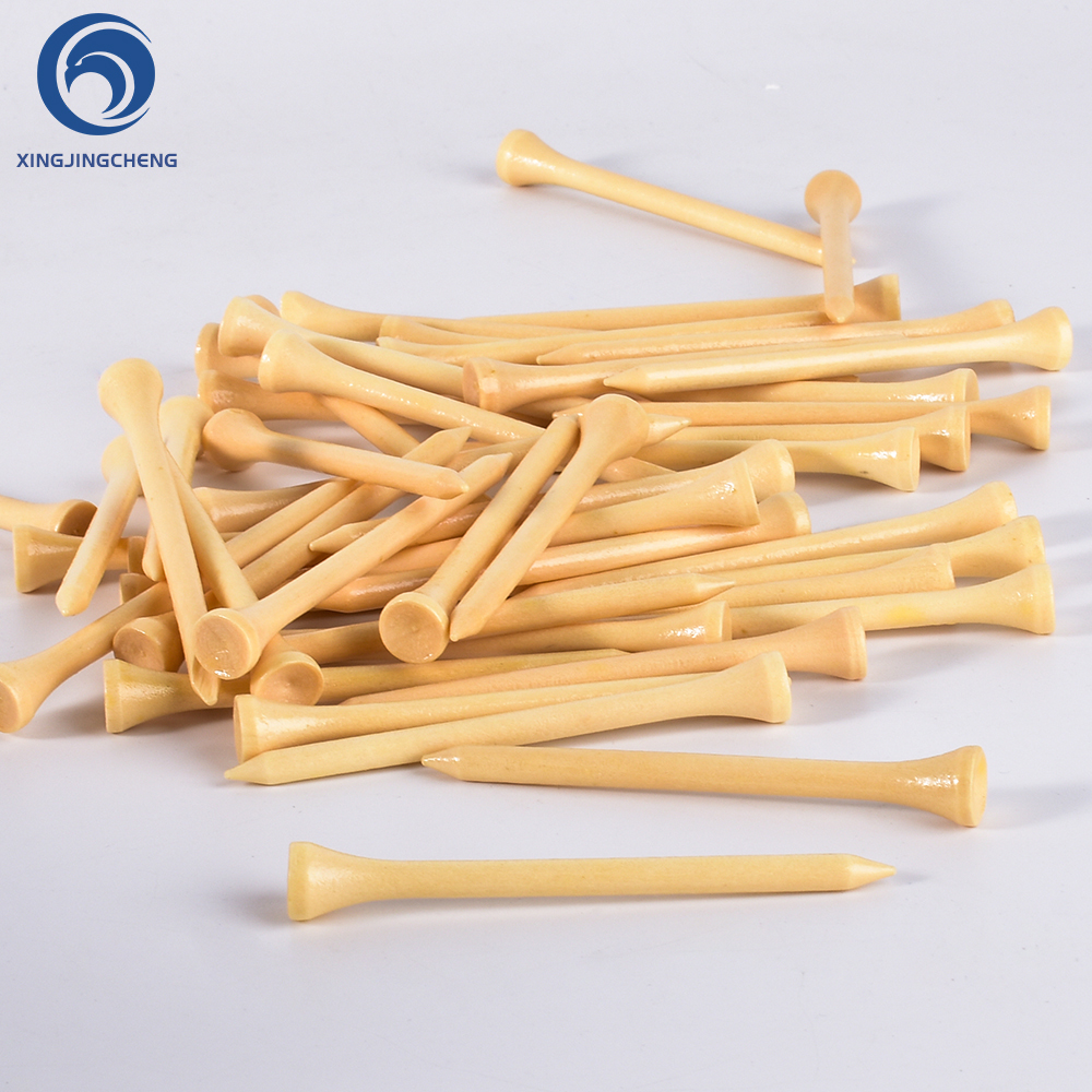 100Pcs 42/54/70/83 Mm Hard Wood Golf Tees For Golf Training Aids Accessory Outdoor Swing Unbreakable Tee For Golf Ball Practice