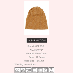 Image 2 - Charm Wood Spring Winter Autumn Fashion Solid Color Ribbed Beanie Hat Cotton Skull Caps For Adults Woman Man Beanies Warm