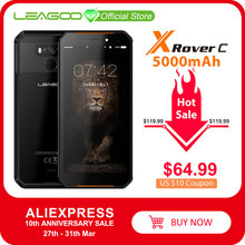 "LEAGOO X רובר C IP68 Waterproof Smartphone 5.72 ""mtk6739 Quad Core 2GB 16GB 13MP 5000mAh פנים טביעות אצבע מזהה מוקשח טלפון"