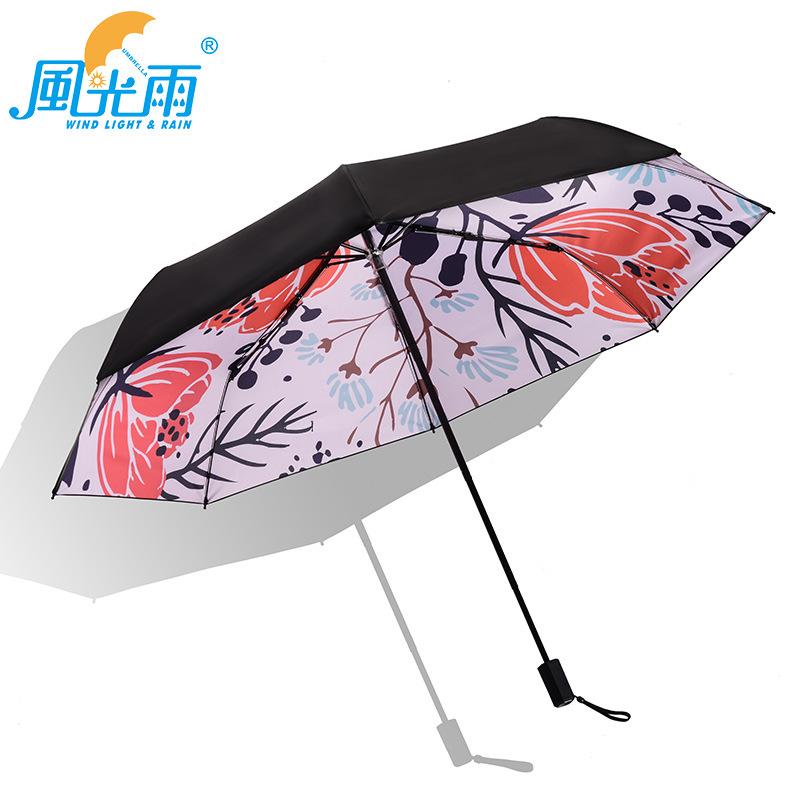Wholesale Umbrella Manufacturers Foldable Rain Or Shine Dual Purpose Umbrella Digital Printing Photo Image Pattern Logo Advertis