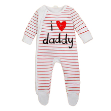 kids baby boy girl clothes striped long sleeve 3-12m