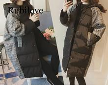 Rubilove 2019 Womens Winter Jacket Increase Thickening Long Coat Women Hooded Cotton Plus Size 4XL Outerwear
