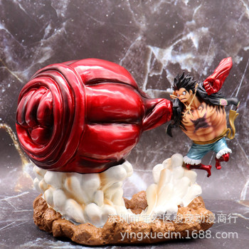 Anime One Piece Gear 4 Luffy Action Figure Monkey D Four PVC Collectible Model Toy Figurine Doll  20cm